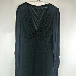 David Meister Black Formal Long Sleeve Dress 10